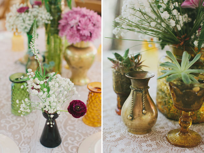 old bottle vases