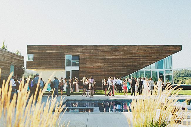 modern house wedding