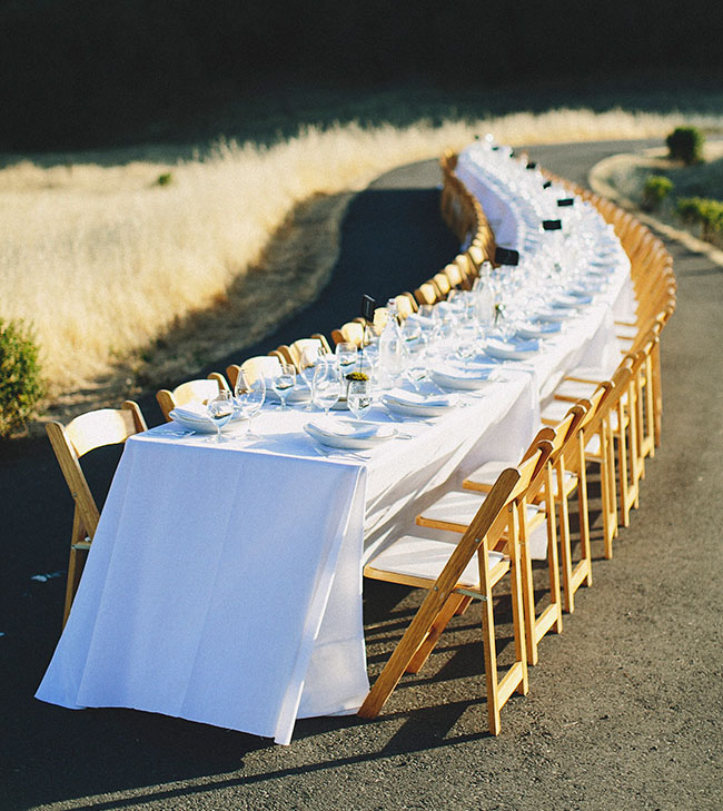 long winding dining table
