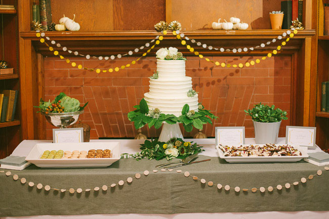 garland dessert decor