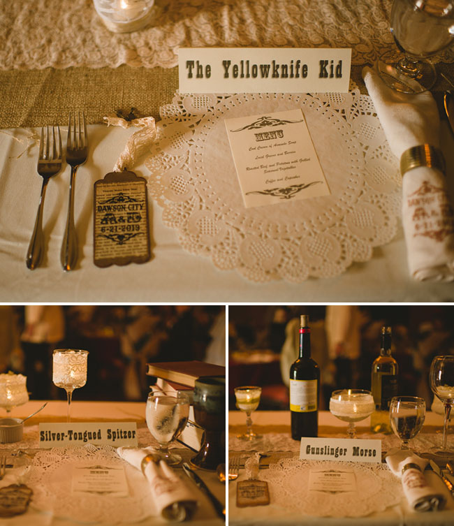 old fashioned name seating cards