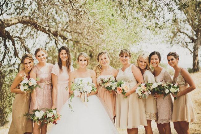 South African Wedding Dresses 11 Elegant pink bridesmaids