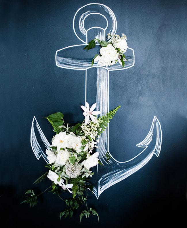 Mint turquoise nautical wedding inspiration green wedding chalkboard anchor junglespirit Images