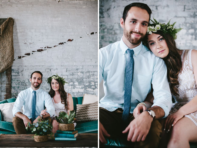 nautical bride and groom