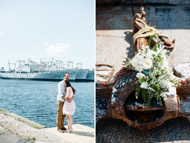 nautical bride and groom