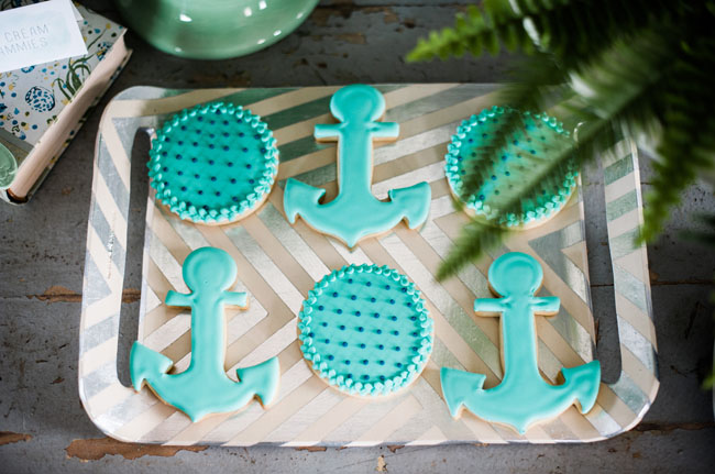 nautical anchor cookies