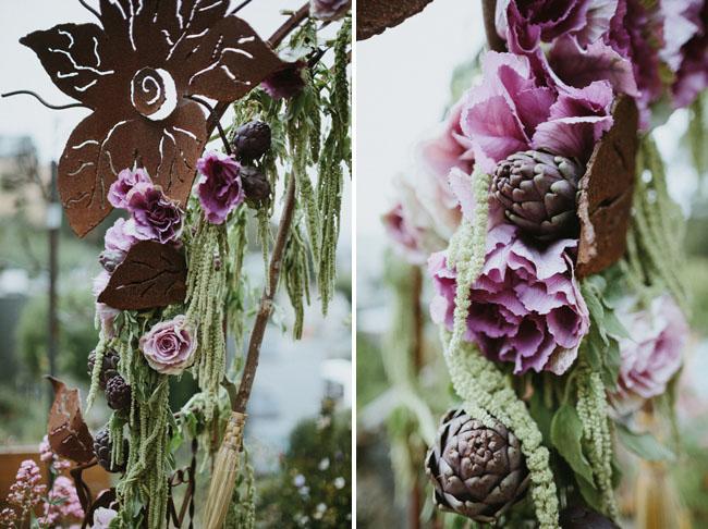 purple flower arbor