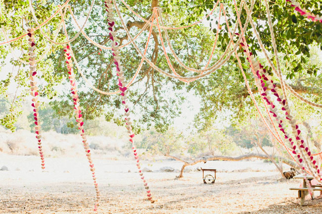 hanging heart garlands