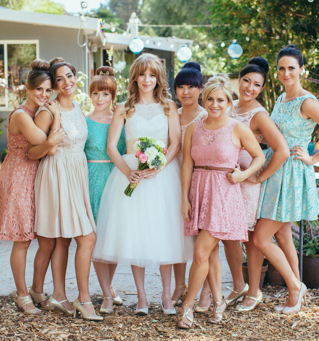 60's-Inspired Backyard Wedding: Hayley + Gordon