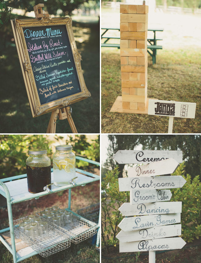 giant jenga wedding game