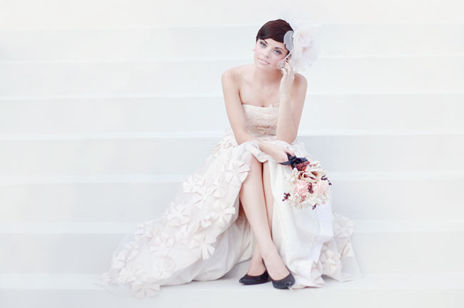 Audrey Hepburn Inspired Bridal Style