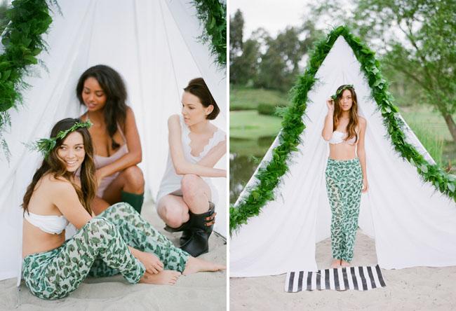camp bridesmaids