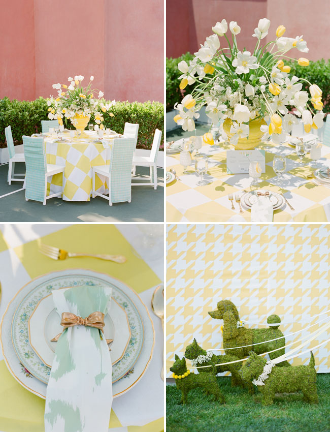 yellow bridal shower details