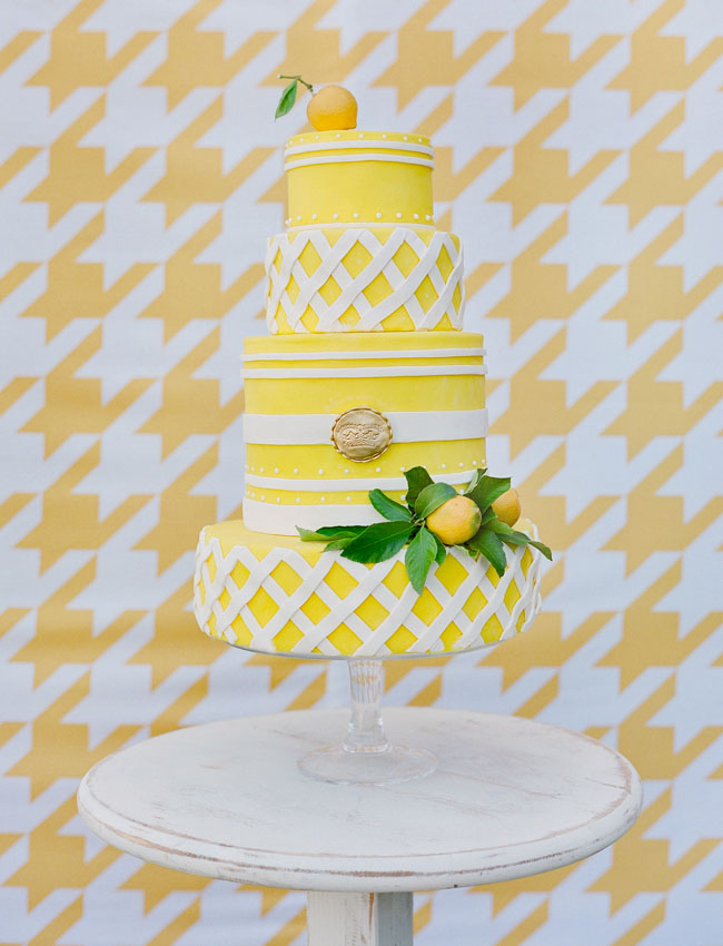 yellow tiered cake
