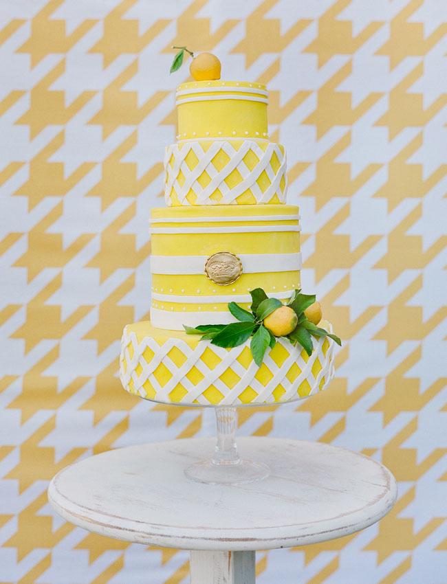 yellow tiered cake