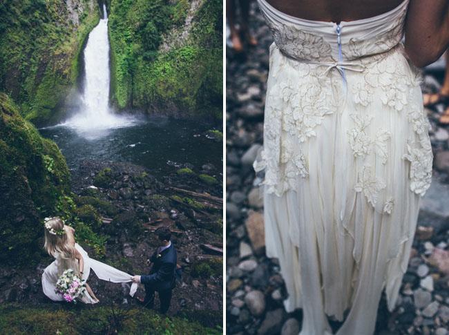 waterfall elopement