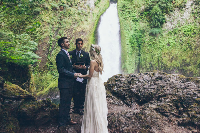 Waterfall Elopement In The Rainforest Jessi Cody