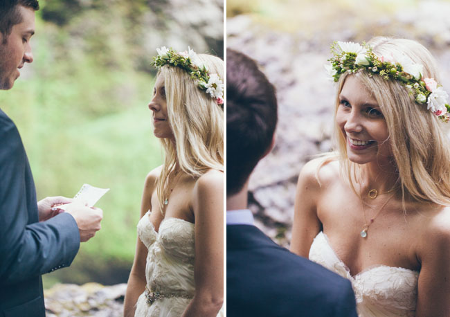 waterfall elopement