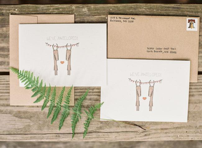 woodland invitation