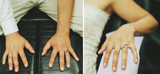 Realistic Wedding Ring Tattoos: Canadian Mountain Elopement: Adina + Lukasz