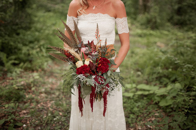 whimsical red bouquet
