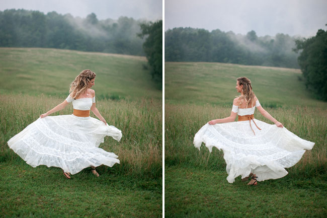 bride twirls