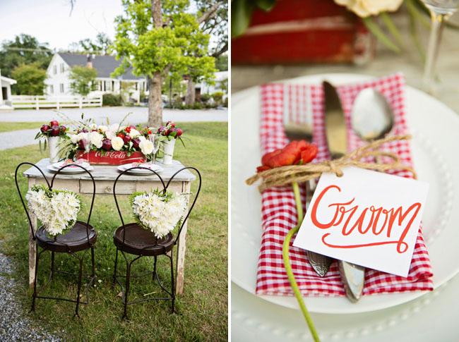picnic checkered napkin