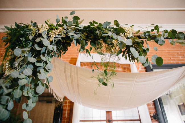 draped leaves garland