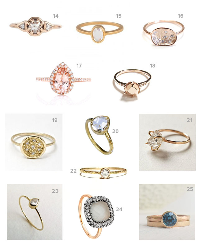 Engagement gold rings with names