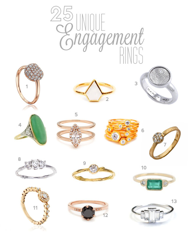 25 Unique Engagement Rings