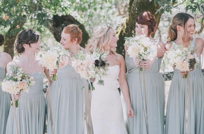 mint bridesmaids