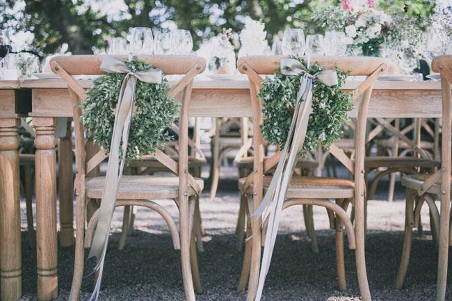 wreath chair decor
