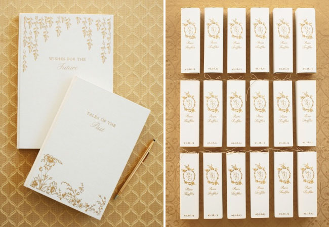 gold paper goods