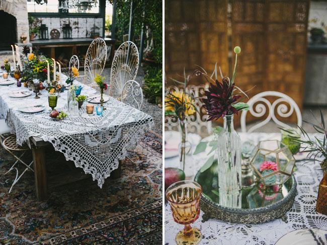 bohemian table