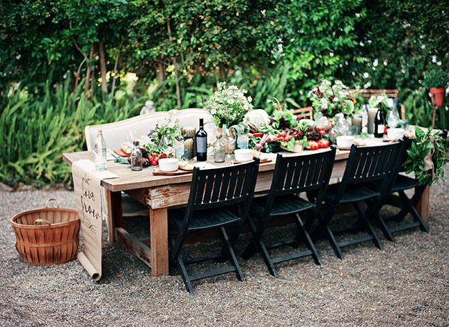 farmers veggie table