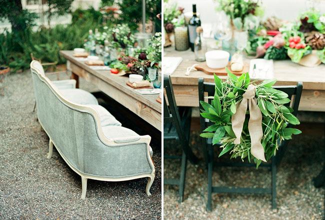 chair wreath