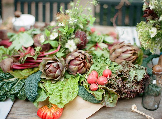 fresh picked veggies