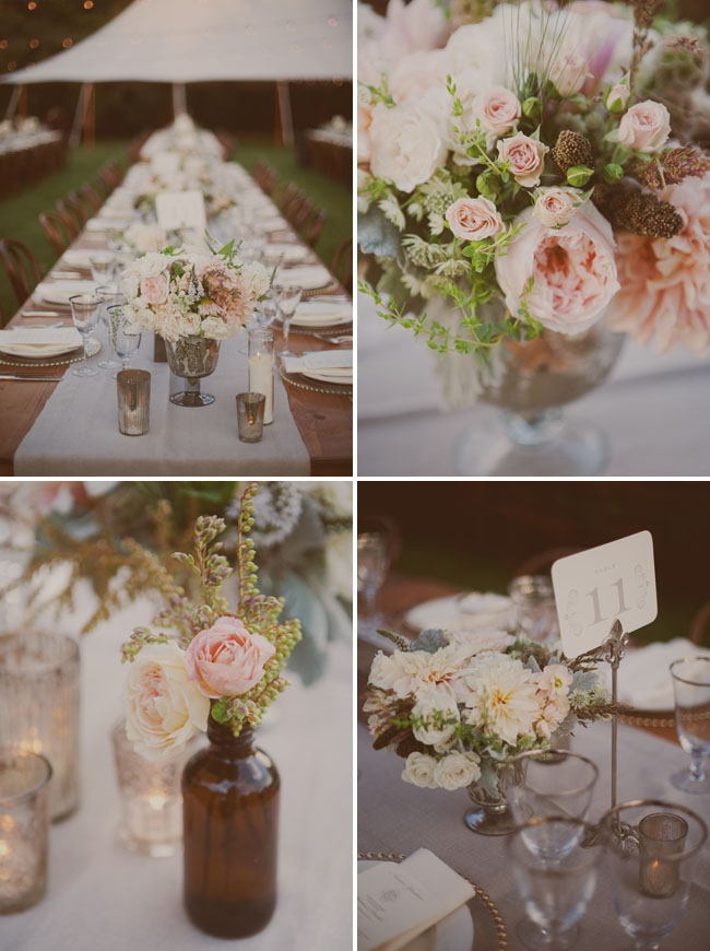 sweet pink table decor