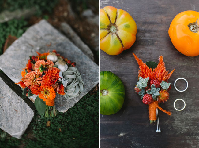orange fall bouquet