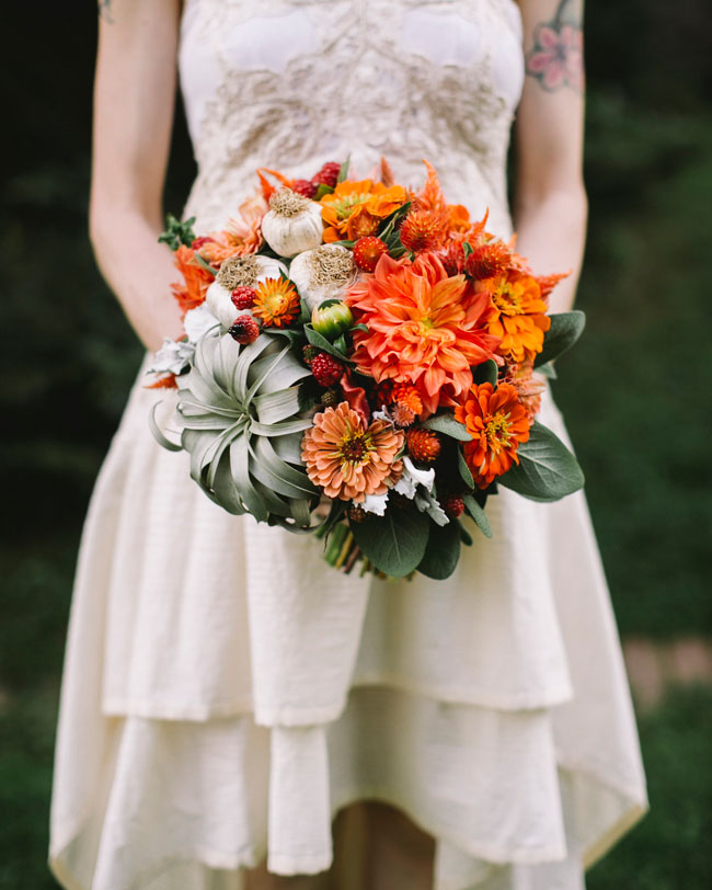 orange farmer bouquet