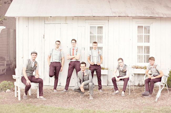 maroon pants groomsmen