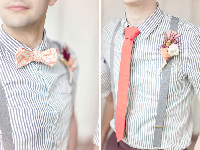 peach bow ties