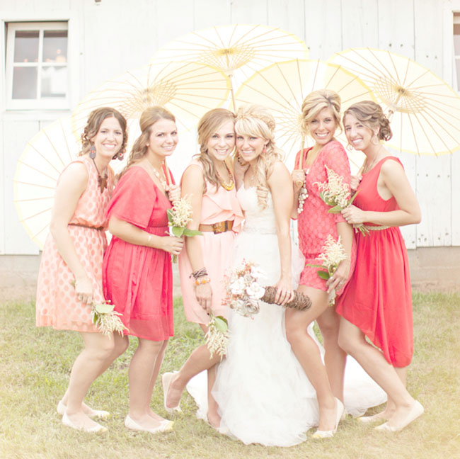 mixed bridesmaids