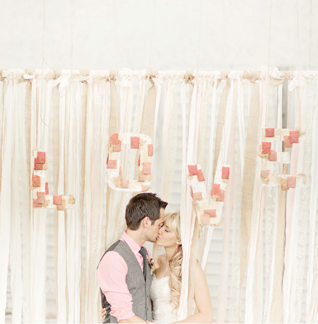 love ribbon wall