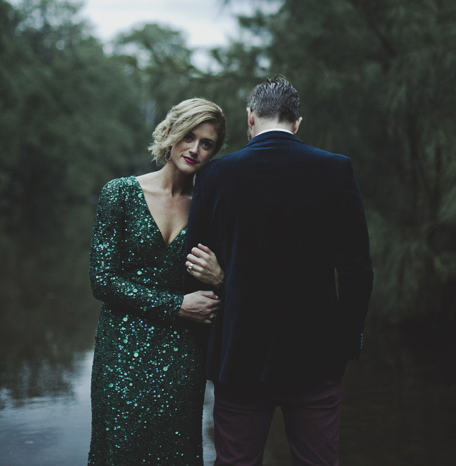 green sequin wedding dress