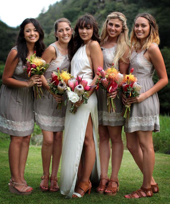 Hawaiian Dresses Wedding 60 Marvelous hawaiian bridesmaids