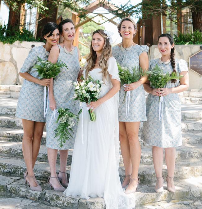collared dress bridesmaids