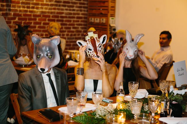 animal mask favors