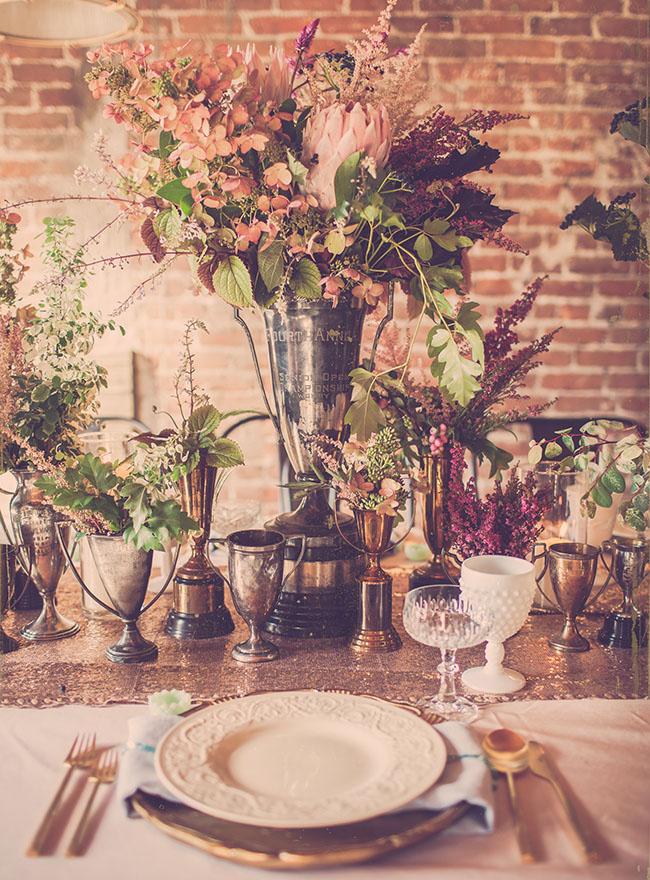 trophy vase centerpieces
