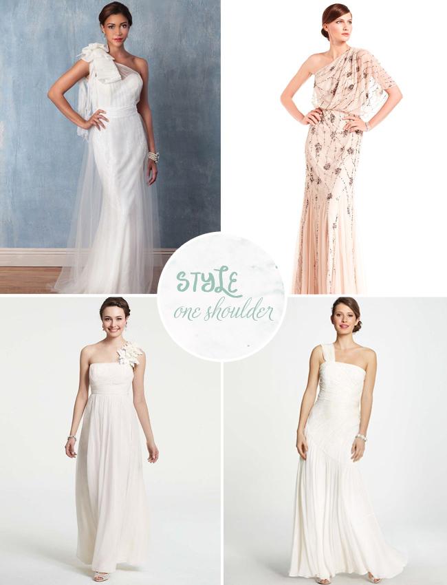 one shoulder wedding dresses under $100